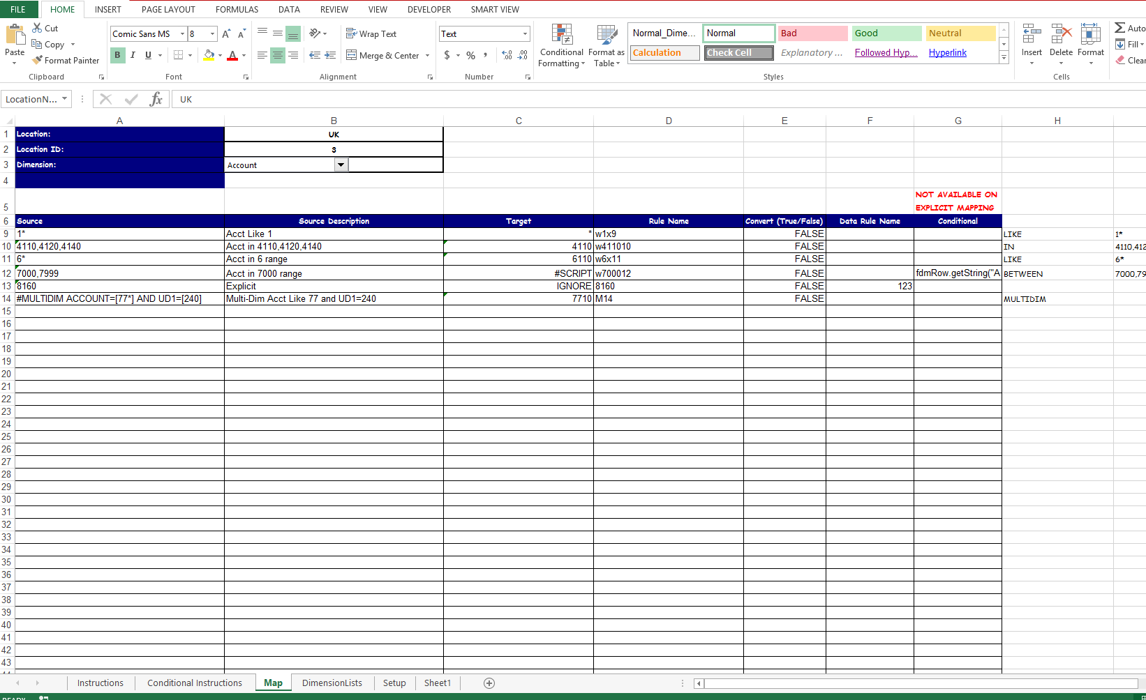 Data Mapping Excel Template Mandegarfo